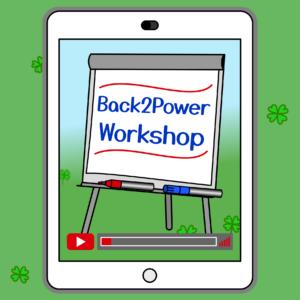 """Back2Power Video-Workshop """"Erste Hilfe gegen Stress"""" (im Mitgliederbereich)"""